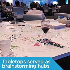 tabletop brainstorming hubs